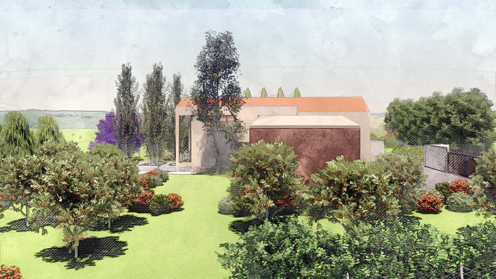 Palmieri Studio analisi del contesto per progetto giardino villa.