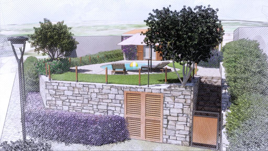 Palmieri Studio analisi del contesto per progetto giardino villino.