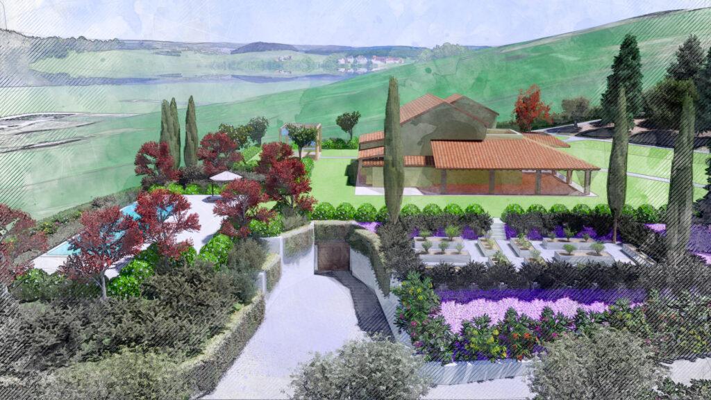 Soluzione progettuale progetto Villa FG Palmieri Studio