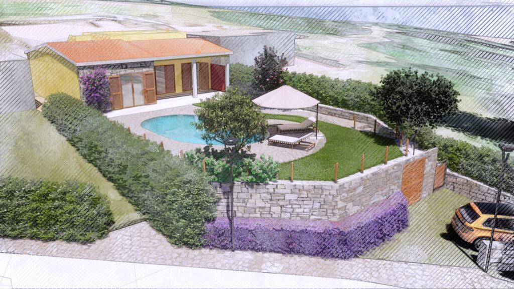 Palmieri Studio soluzione progettuale per progetto giardino villino.